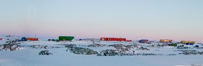 Casey Station Antarctica panoramic view