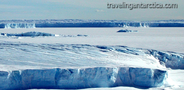 The Vanderford Glacier in Eyres Bay near Casey  Antarctica