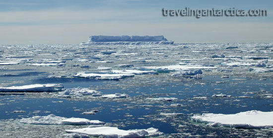 Antarctic cruises pack-ice and iceberg