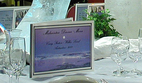 Antarctica Midwinter Dinner Table Setting and Menu
