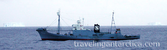Japanese Whaling Ship in Antarctica Kyo Maru No.1