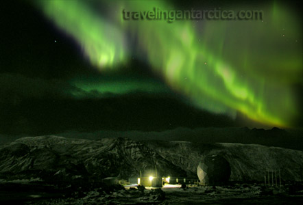 Aurora Australis Southern Lights in Antarctica
