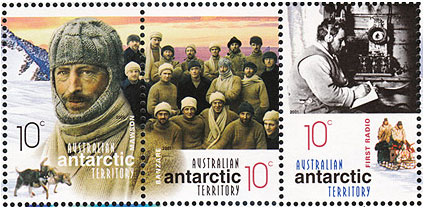 Stamps commemorating Mawson&#039;s first Australian Antarctic Expedition  